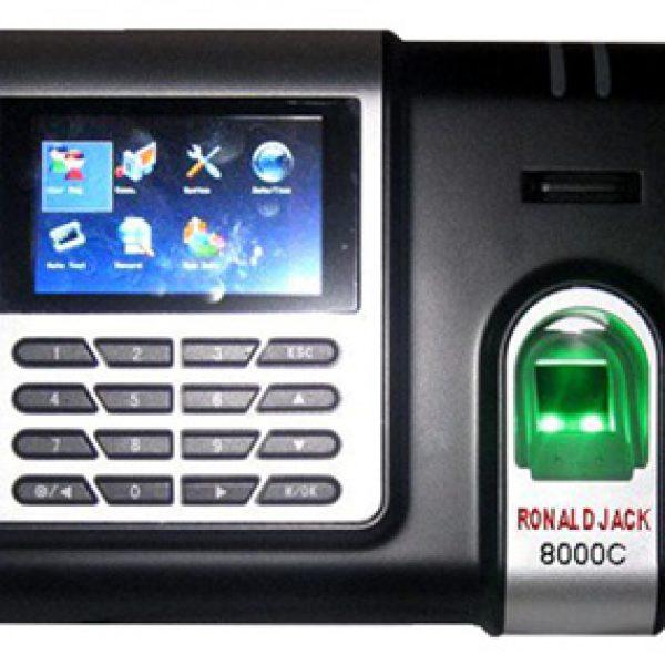 Máy chấm công bằng vân tay và thẻ cảm ứng RONALD JACK 8000C